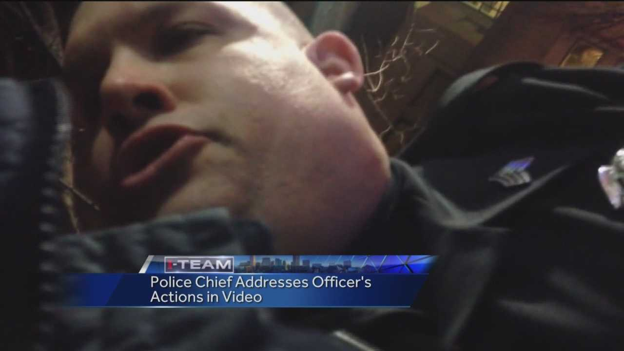 Police chief calls officer's actions 'incorrect, inappropriate'