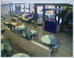 Suspect inside McDonald's