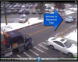 Suspect exiting cab