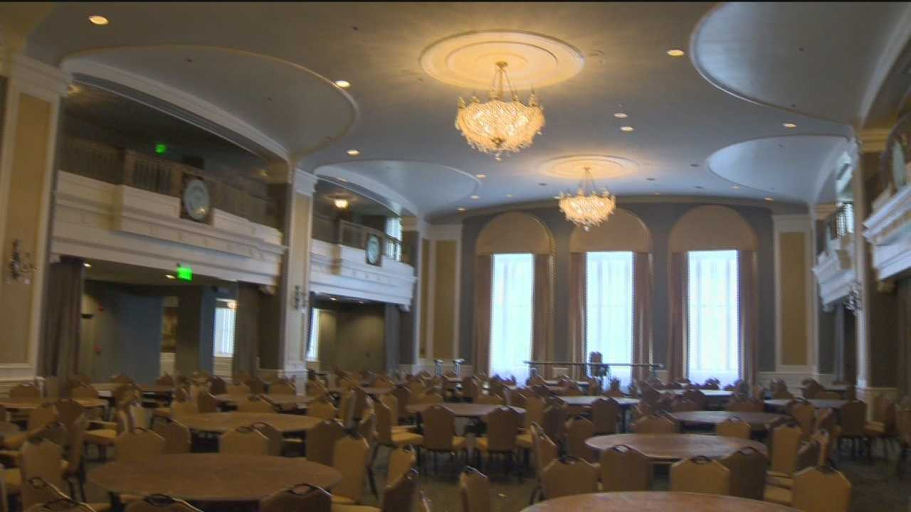 The historic Lord Baltimore Hotel is restored to its former glory. The hotel, 23 stories tall, was built in 1928.