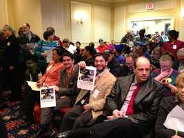 March 26: Direct care workers pack the minimum wage hearing.