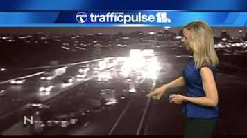Traffic cameras showed the backups early in the morning commute.