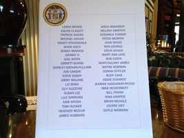 April 7:Names of 43 Delegates leaving the House.
