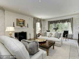 With 12,186 square feet, this home has six bedroom, five full bathrooms and three half bathrooms.