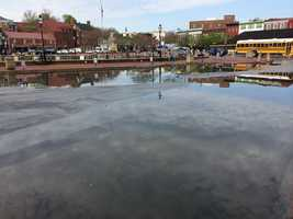 Flooding in Annapolis on Thursday morning.