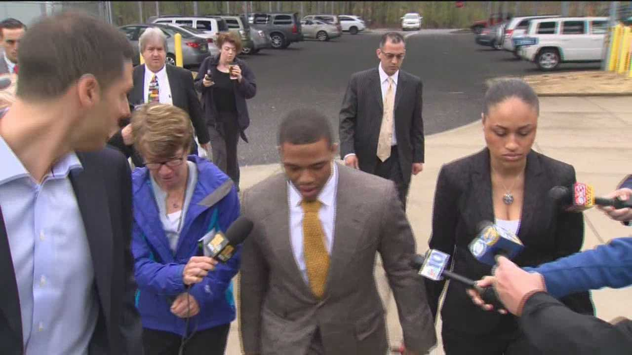 Ray Rice pleads not guilty in N.J. court
