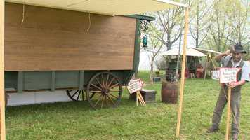 There's also an old west Main Street set up and what's known as the first RV to see what it'd be like when a medicine show set up shop in town.