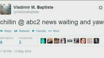 A tweet from Vladimir Baptiste's Twitter account