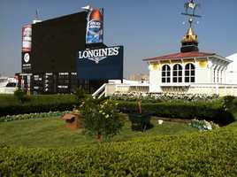 May 13:Pimlico Race Course preps for Preakness