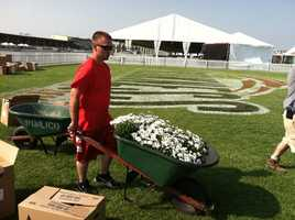 May 13: Pimlico Race Course preps for Preakness