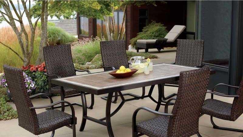 Fairview 7-piece patio woven dining set