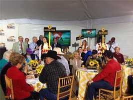 May 13:The Pre-Preakness Party is underway at the post position draw.