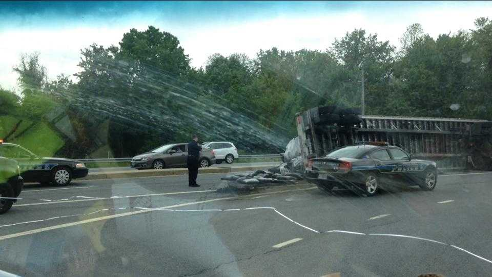 Mulch truck crash