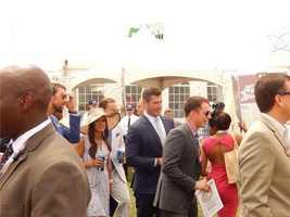 Former Florida Gators QB and Bachelor Jesse Palmer and Michael Phelps