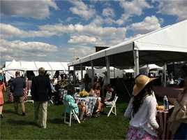 May 17: A look at the Corporate Village at Preakness.