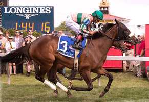 May 17: Somali Lemonade prevails in a spirited battle for the lead, then held off Watsdachances in deep stretch to win the Gallorette Handicap.