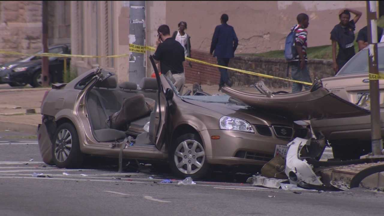 Cars crash following police pursuit, witnesses say
