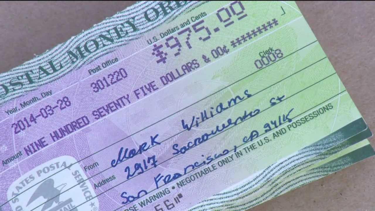 Fake money orders sent to babysitter