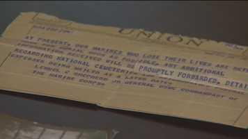 A telegram detailing Powell's fate.