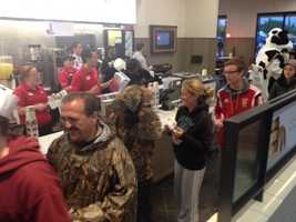 The first stand-alone Chick-fil-A restaurant in Baltimore is officially open.