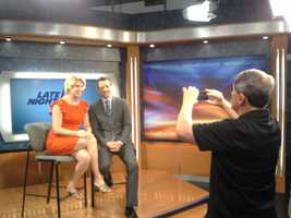 WGAL's Meredith Jorgensen snaps a photo with Seth Meyers.