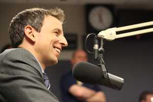The Late Night host started off the day with radio interviews.
