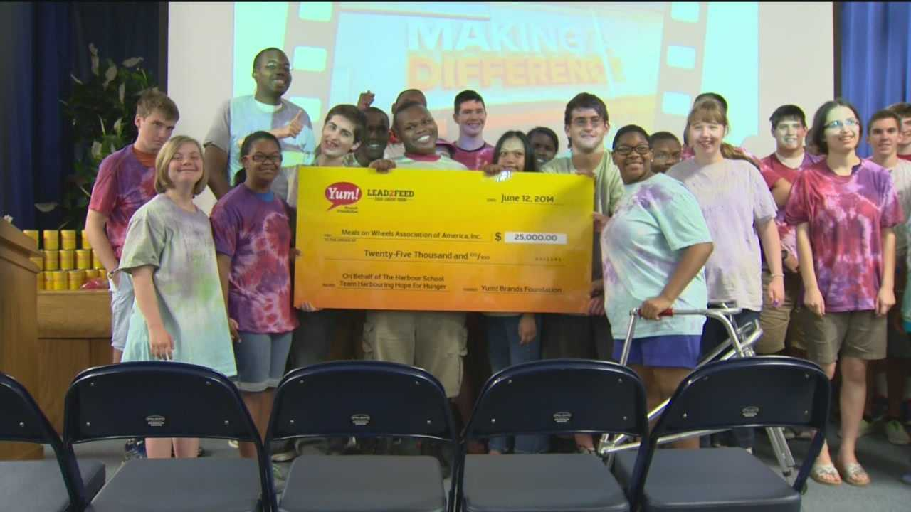 Students with special needs win $25,000 for charity