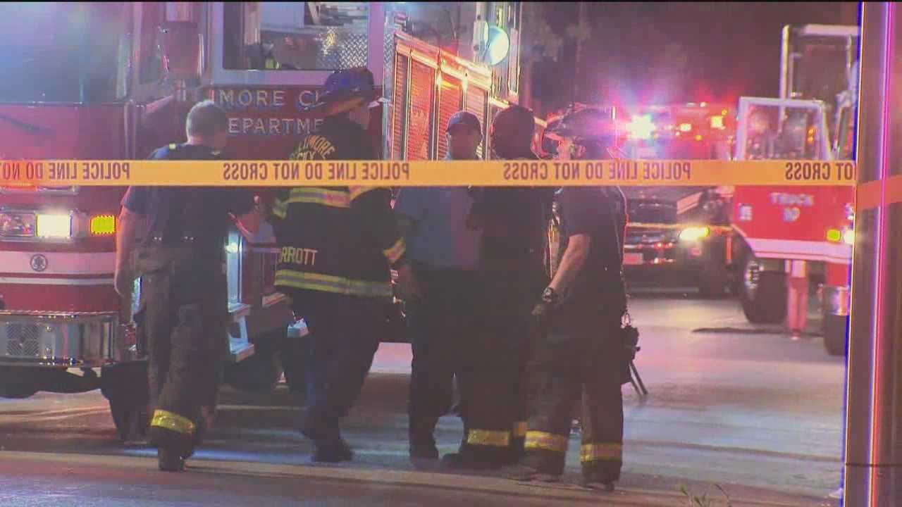 2 children pulled from Baltimore house fire