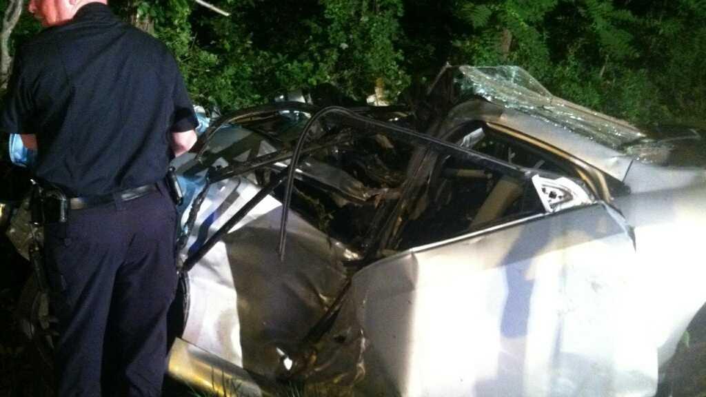 Glen Bernie fatal crash scene