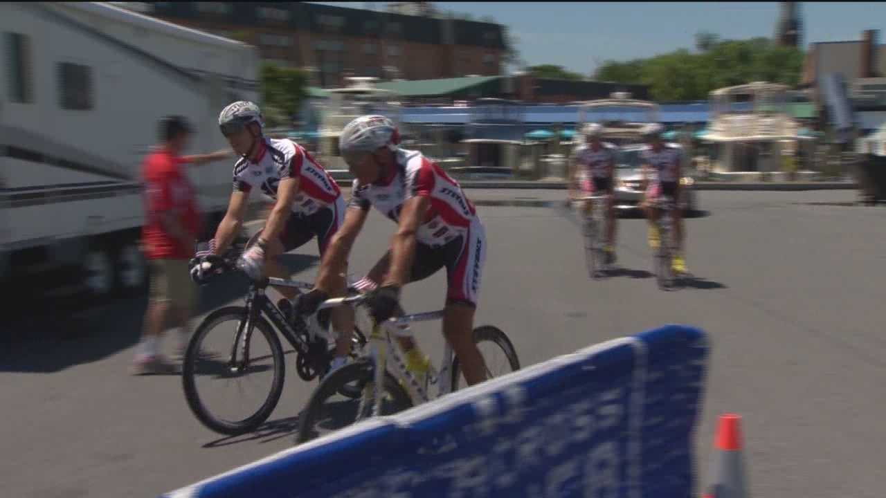 Bicycle race across country ends in Md.