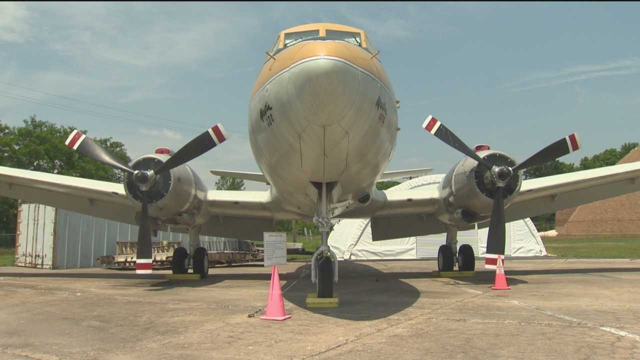 The Maryland-built Martin 404's history dates back to the 1950s. While in service, the plane carried a crew and 40 passengers. Now, the plane's paint has a problem.