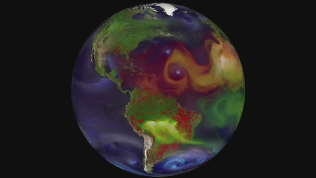 NASA photos from space show pollution on Earth