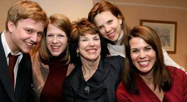 Megan has two sisters and a brother, Jennifer, Amanda and Andrew. Also pictured is Megan's mom.