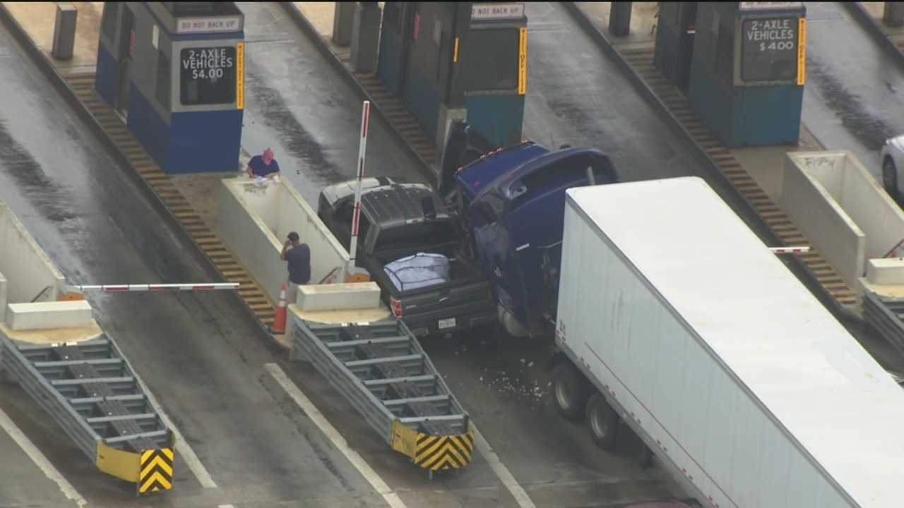 toll plaza crash