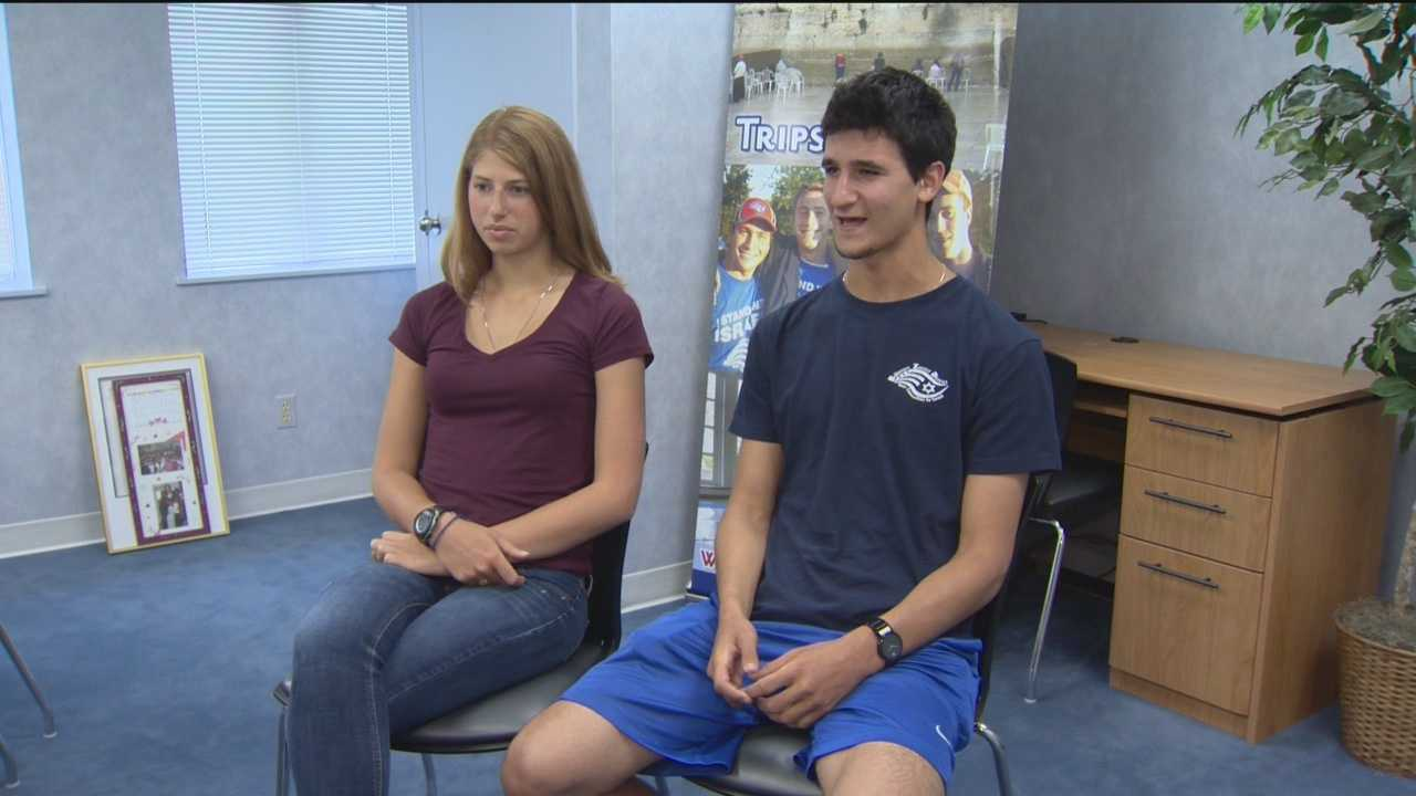 Two of the Baltimore teenagers who just returned from Israel said the escalating conflict in Israel was something they had to deal with.