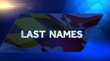 WhitePages has compiled the most popular last names in Maryland.