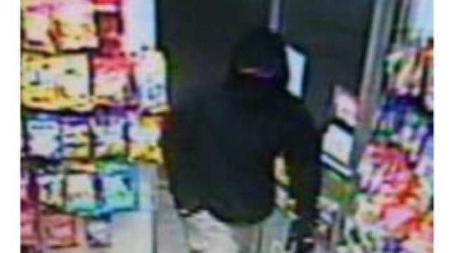 Police say this man, captured on surveillance video, is wanted in connection with the killing of a clerk at an Exxon gas station in Hanover.