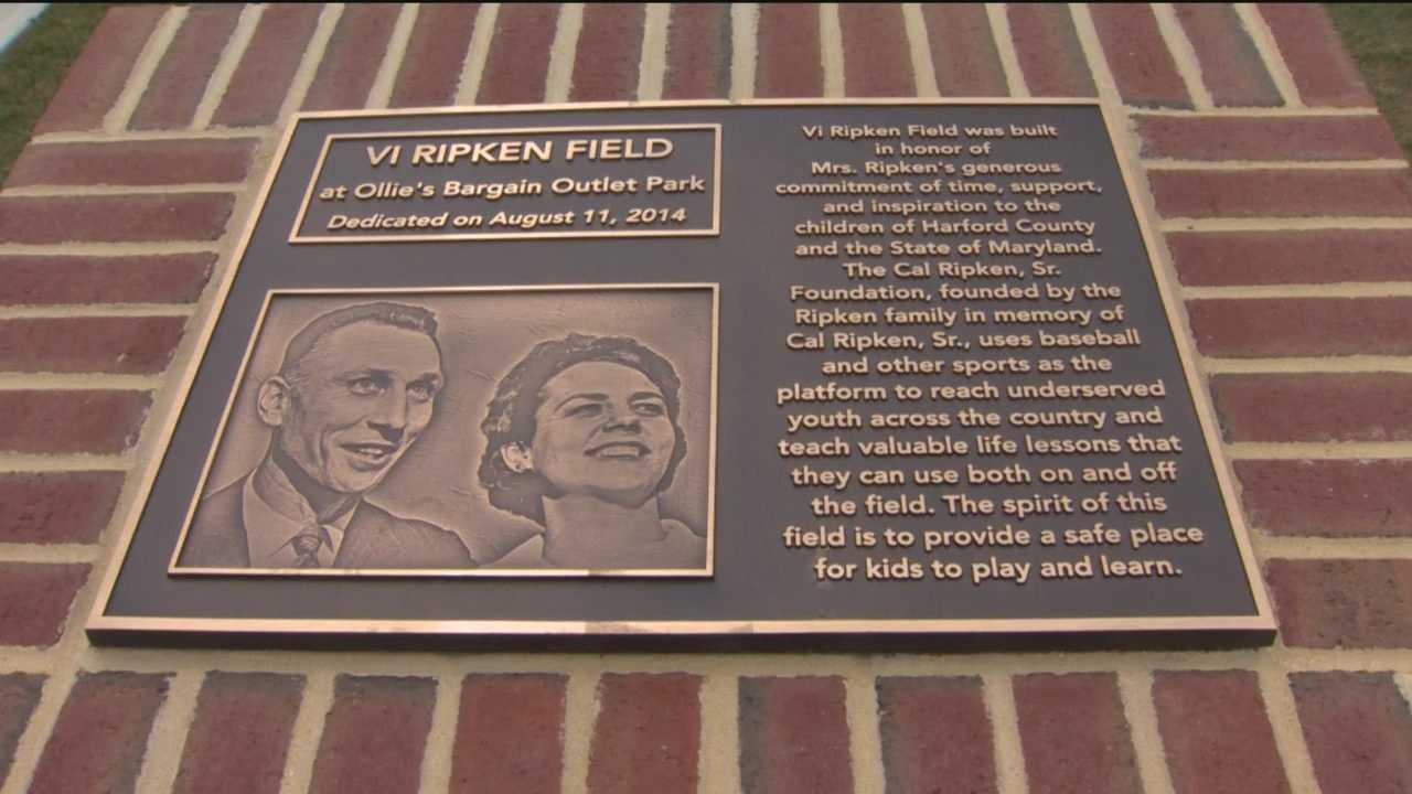 Baseball field dedicated to Vi Ripken