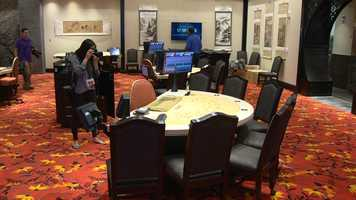 There will be 122 live table games, including a 25-table live poker room.