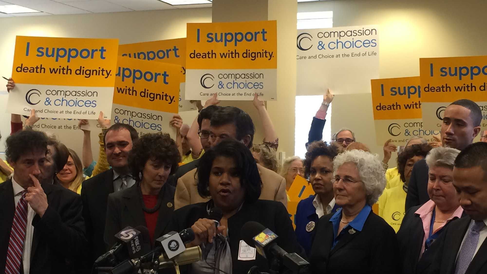 Right-to-die legislation supporters