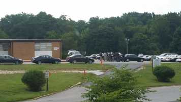 Baltimore County police are on the scene Monday of a possible barricade situation at the Carriage Hill Apartments in Randallstown.