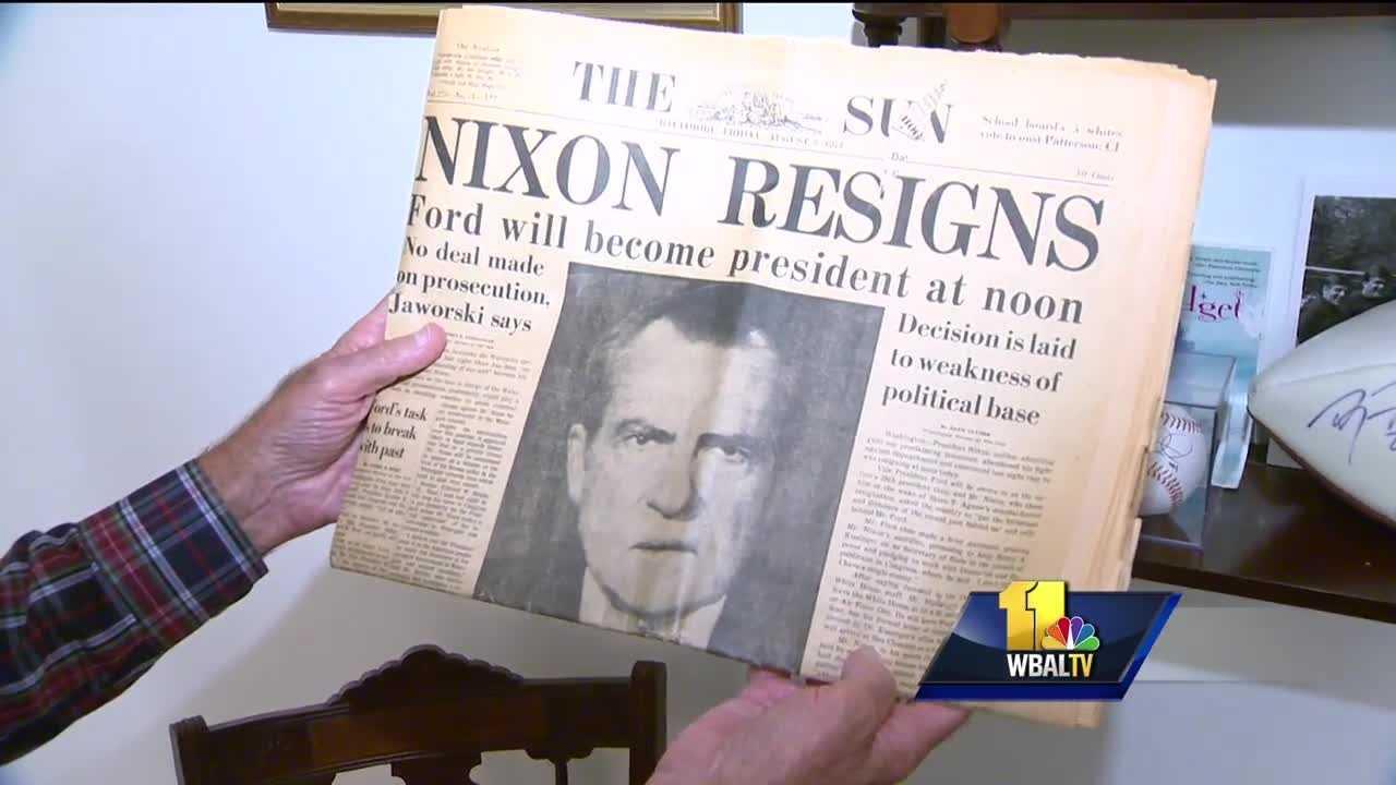 Man displays presidential election memorabilia