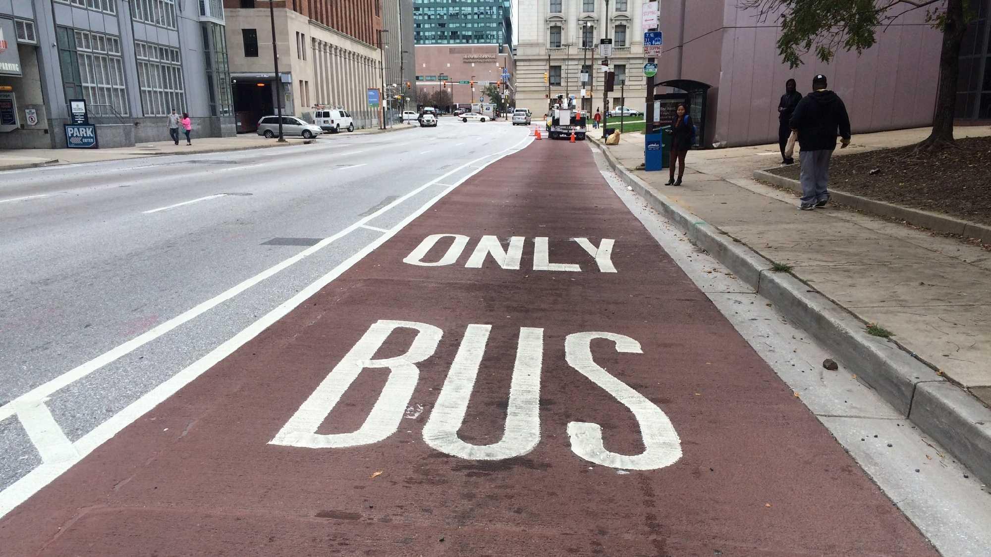 Baltimore bus lane