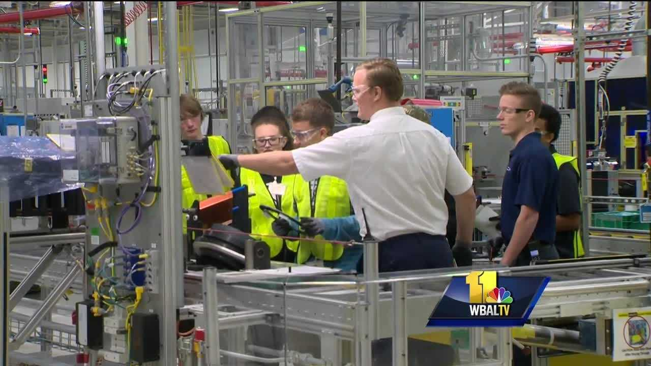 Baltimore County students put STEM to use at GM plant