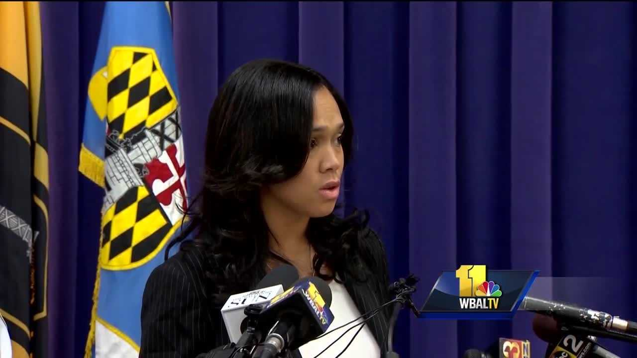 A federal judge on Thursday dismissed three claims alleged in a lawsuit against Baltimore's prosecutor filed by five of the six police officers initially charged in the in-custody death of Freddie Gray. During a motions hearing Thursday, federal Judge Marvin Garbis dismissed three of the claims: conspiracy, false arrest and false imprisonment. The judge will issue a written opinion on whether the case will go forward on charges that Mosby made false statements to bring charges against the six officers to further her own personal interests, to quell a riot and for political gain. He didn't say when he'd rule.