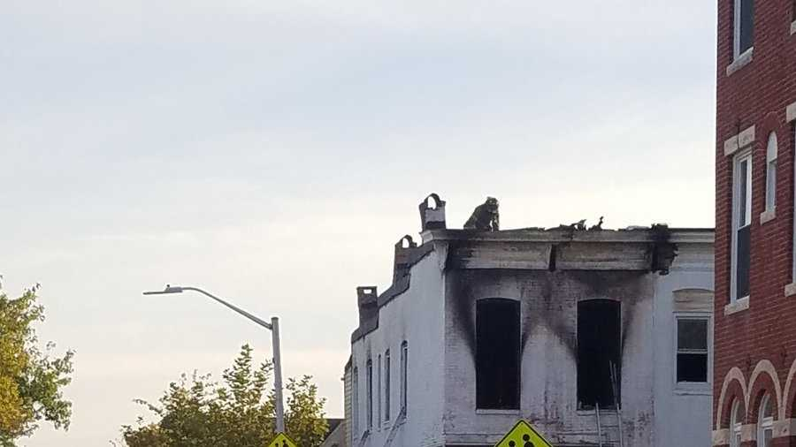 2 families displaced by Baltimore fire