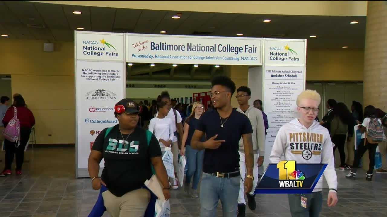 Thousands of Baltimore area high school students went shopping for college during a two-day event.