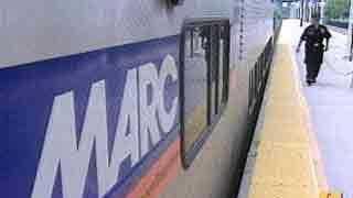 MARC train at platform - 4696283