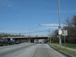 2) 2,836 red-light violations on eastbound Pulaski Highway at Moravia Road.