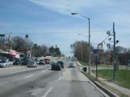 10) 7,407 speeding violations in the 3000 block of eastbound Liberty Heights Avenue at Hilton Street.